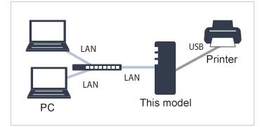 NAS Buffalo LS410D USB Printer Server