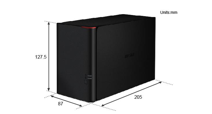 NAS Buffalo LS420D Dimensions